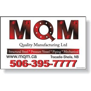 "Custom Full Colour Magnetic Vehicle Signs 12""x23"", Long Term Outdoor Use"