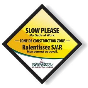 "Custom Full Colour Magnetic Vehicle Signs 11.5""x11.5"", Long Term Outdoor Use"