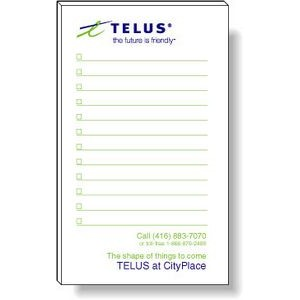 "50 Page Magnetic Note-Pads with 2 Custom Colour Imprint (3""x5"")"